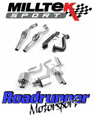 "Milltek SSXAU594 AUDI RS6 C7 Exhaust Turbo Back ROAD+ 3"" D/Pipes & 100 Cell Cats"