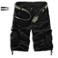 Mens Casual Army Combat Camo Cargo Shorts Pants Work Trousers