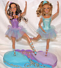 Barbie 12 Dancing Princesses Isla & Hadley twin dolls & base Ballet 3+ Mattel