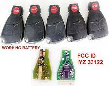 LOT 5 OEM MBZ Mercedes Benz Keyless CUT INSERT KEY Remote IYZ 3312 5WK4 7282