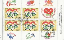 Finland 1993 Used Booklet - Valentine's Day Stamps - First Day Cancel