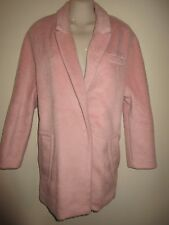 ALYTHEA NWT $128.- Oversized Long Baby-Pink Jacket/Coat, Faux Alpaca, Lined,  M