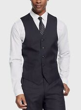 Sean John Men's Black Diamond Texture 48/Regular Classic Fit Vest