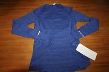"""NWT Lululemon """"Kanto Catch Me"""" Long Sleeve Top blue KLUP sold out"""