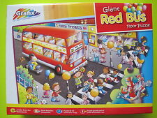 Grafix - 45pcs Giant Red Bus Puzzle - Rode bus - Vloerpuzzel - Bus rouge