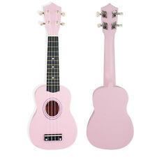 """21""""  Soprano Uke Ukulele Ukelele  Pink Musical Instrument New Gift Kids Children"""