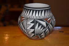 ROXANNE VICTORINO HANDCOILED ACOMA BOWL! BEAUTIFUL PAINTING 2