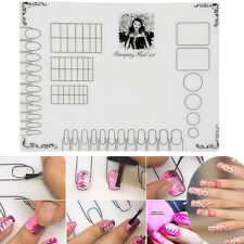 Nail Art Silicone Practice Mat Pad Stamping Plate Sticker Washable Manicure Tool