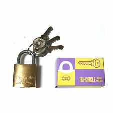 SMALL LITTLE 25MM LUGGAGE BAG SOLID BRASS METAL PADLOCK PAD LOCK WITH 3 KEYS