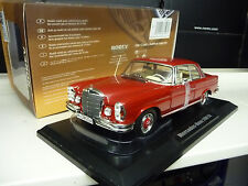 1:18 NOREV MERCEDES 280se coupé w111 red Limited Edition 1400 pieces Neuf New