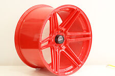 """Lenso Project G 18"""" 10.5J  alloy wheels stance drift race deep concave. PAIR RED"""