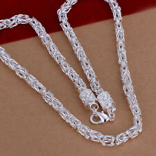 hot! wholesale Sterling solid silver fashion jewelry Chain Necklace XLSN048