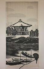 """GIHACHIRO OKUYAMA (1907-1981) Japanese Woodblock """"Godaido Shrine"""""""
