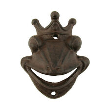 Metal Wall Mount Frog Prince Beer Cap Soda/Pop Top Bottle Opener Tool Bar Decor
