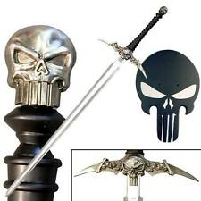 "Punisher Sword 51"" Defender of the Dark Stainless Steel Sword Blade with Plaque"
