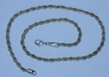 925 SILVER 20 INCH ROPE NECKLACE  WEIGHT 26.5 GRAMS