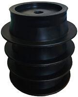 4 pack STACK PADS - JACK PADS motorhome CARAVAN - BLACK
