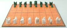 ANCIENT CHESS SET REPLICA (SHATRANJ), FOLDING BOARD - 9TH CENTURY PERSIAN STYLE