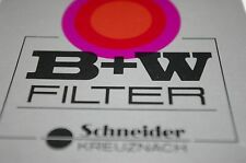 NEW B+W SCHNEIDER 52mm STRONG UV ABSORBING 415 OPTICAL GLASS FILTER METAL RING