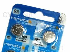 2 pcs x Renata 390 SR1130S SR54 Silver Oxide Battery, Swiss Made FREE POST WW