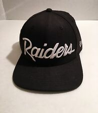 RAIDERS NEW ERA SNAPBACK HAT CAP NFL 9FIFTY 100% WOOL EAZY E VINTAGE