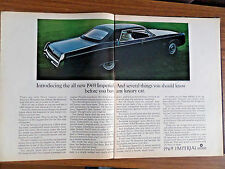 1969 Chrysler Imperial Le Baron 4 Door Hardtop Ad