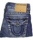 Authentic True Religion Brand Jeans Ricky Multi Super T Vintage Canal Crawl Blue