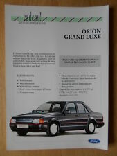 FORD ORION GRAND LUXE 1990 French Mkt sales leaflet brochure