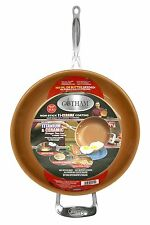 "Gotham Steel 9953 Non-Stick Titanium Frying Pan,12.5"",Brown wide x 2.2 Inch FGP"