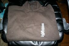 NWT! CALVIN KLEIN 1/2 ZIP PULLOVER SWEATER SWEAT SHIRT 100% COTTON-BROWN-LARGE