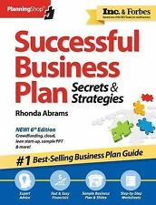 Successful Business Plan : Secrets and Strategies by Rhonda Abrams (2014, Paperb