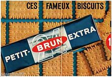 PUBLICITE ADVERTISING 0105  1964  LU  les PETITS BRUN  EXTRA  (2p) biscuits