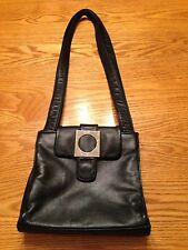 Vintage GUESS Small BLACK Faux Leather Purse Bag Handbag  Shoulder Pocketbook