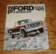Original 1982 Ford Truck 4-Wheeler Sales Brochure 82 4x4 Pickup