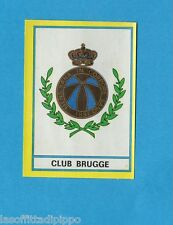 BELGIO-FOOTBALL 75-PANINI-Figurina n.120- SCUDETTO/ECUSSON - CLUB BRUGGE -Rec