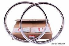 Genuine front/rear wheel rims + spokes honda C50 C65 C70 C90 C100 C102 C105