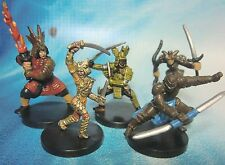 Dungeons & Dragons Miniatures Lot  Dragon Samurai Red Samurai !!  s100