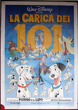 MANIFESTO, LA CARICA DEI 101 One Hundred and One Dalmatians ANIMAZIONE, DISNEY