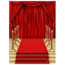 5x7ft Vinyl Red Carpet Curtain Backdrop Photography Photo Background Prop SP