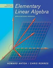 Elementary Linear Algebra: Applications Version, Rorres, Chris, Anton, Howard, A