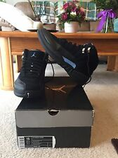 "2009 Nike Air Jordan Retro 12 XII ""Nubuck"" Size 13 Black White University Blue"