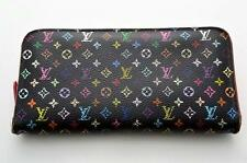 F/S Authentic LOUIS VUITTON Multicolor Insolite M93754 Noir Wallet TA1384-%