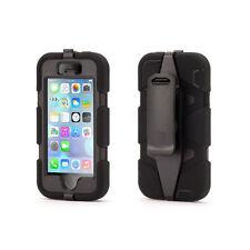 Coque Etui intégrale Survivor Militaire Noir Apple Iphone  SE 5 et 5S + film