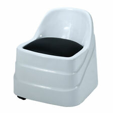 Pedicure Chair Mini Seat With Back Wheels Foot care spa bath stool NEW