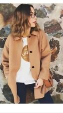 New Zara Hand Made Coat Jacket Camel Tan 4070/221 Size Medium M