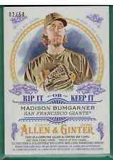2016 TOPPS ALLEN & GINTER BUSTER POSEY MADISON BUMGARNER DUAL RIP /50 UNRIPPED