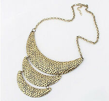 Fashion Three Round Levels Bronze Collar Necklace Vintage Style Choker N140