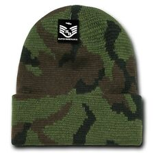 Woodland Jungle CAMO Camoflauge Cuff Watch Stocking Cap Beanie Winter Stocking