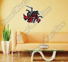 """Knight Horse Fighting Medieval Gift Wall Sticker Room Interior Decor 22""""X22"""""""