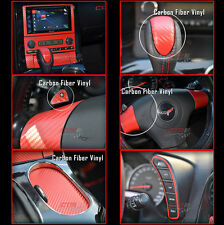 C6 Corvette Overlay Kit Bundle Decals Red Carbon Fiber 2005-2013